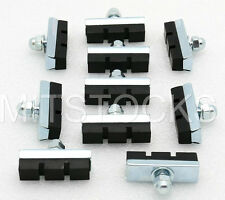 10 BOLT-ON BICYCLE BIKE 10 SPEED BRAKE PADS NEW