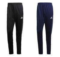 Mens Adidas Tracksuit Bottoms Trouser Pants Football Training Jogging Black Navy