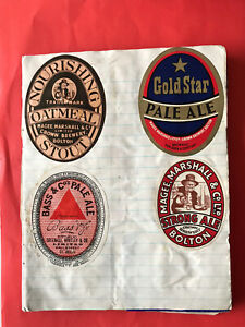 Beer & Spirit Bottle Labels. 1963. (6 pages In Lot)