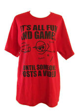 Twerk Red Tee Shirt Its All Fun And Games Until Someone Posts a Video Large