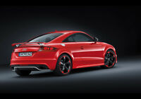 AUDI TT RS PLUS REAR NEW A2 CANVAS GICLEE ART PRINT POSTER