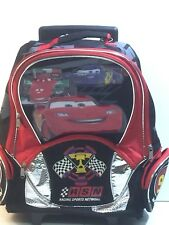 CARS Backpack on Wheels Lightening McQueen Team 95 Younger Boys School Days