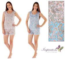 87bde2a9e7 Ladies Laura Shortie Pyjama Set With Bus Top 100% Cotton Ladies Sizes 8-18