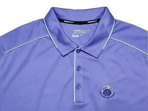 Butler National Golf Club Nike Tour Performance DriFit Polo Shirt Purple Mens XL