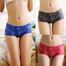 Women Seamless 3D Jeans Denim Printing Underwear Comfort Briefs Panties Knickers