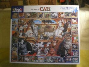 White Mountain Puzzles - THE WORLD OF CATS - 1000 Pieces - #135 FR/SHP