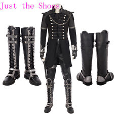 High-quality FINAL FANTASY XV:Kingsglaive Nyx Ulric Cosplay Shoes Black Boots