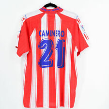 1995-96 Atletico Madrid Home Shirt Puma #21 CAMINERO (Excellent) L Jersey
