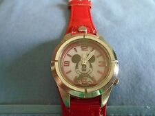 Disney Woman's / Girl's Minnie Mouse LED Lighted Dial Watch Red