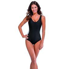 Size 20 Slimming Illusion Swimsuit Secret Support Swimming Costume Black