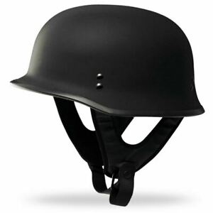 Fly Racing 9mm Half Shell German Style Motorcycle Helmet - Matte Black Size: 3XL