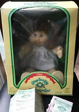 Cabbage Patch Kids Coleco 1984 Brown Hair Girl Doll Adoption Paper Peggy Averil