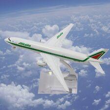 Moda B777 Alitalia metallo Diecast aerei Aeromobili Modello length16cm