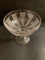 "EAPG ""Cane & Rosette"" Duncan & Sons 1877 Large Comport Antique Glass"
