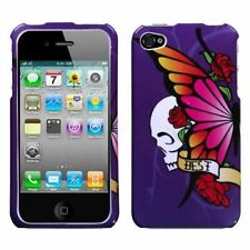 iPhone 4/4S MyBat Phone Case - Best Friend Purple