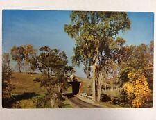 Covered Bridge in Pittsford, Vermont Rutland County VT Chrome Postcard Unused