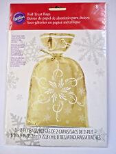 Wilton Gold Foil Treat Bags - 8pc - Brand NEW