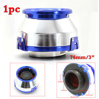 1pc Blue 76mm High Flow Air Filter For Car SUV Motorcycle 3inch Open Air Cleaner