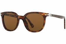 Persol Havana Tortoise Round Polra Crystal Brown Sunglasses PO3216S 24/57 51