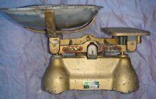 Antique Scale, Cast Iron?, Brass Dish