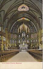 Interior, Notre Dame Church,  Montreal, Quebec, Canada, Pre-Linen  Postcard