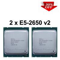 2x Intel Xeon E5-2650 V2 8 Core 2.60GHz 20MB Cache Socket LGA 2011 Turbo 3.40GHz