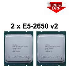 2 x Intel Xeon E5-2650 V2 8 Core 2.60GHz 20MB L3 Cache Socket LGA 2011 CPUs