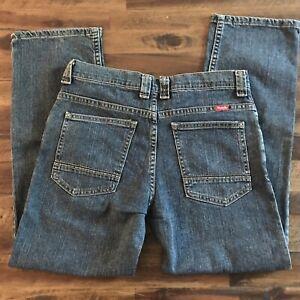 Wrangler Boys 16 Husky Adjust Waist Straight Leg 5 Pocket Med Wash Jeans NWT