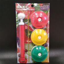 Kitchen vacuum lid VAKS-82B, 9 pcs, + vacuum pump, color in assortment