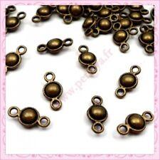 8 connecteurs breloques infini en métal couleur bronze perles,fimo-bc190