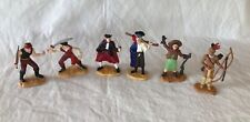 Lot of 6 Safari Ltd  Anne Oakley, Indian Brave, and Pirates Mini Figures Toys