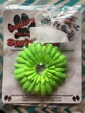 NWT Squishy Pet Products Sprinkles Collar Accessories, Lime 4-Inch