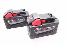 NEW (TWO) Milwaukee M18 Red Lithium High Demand 9.0 batteries 48-11-1890