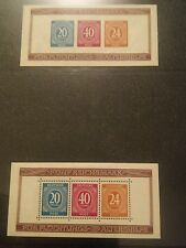 000 1946 Allied Zone Germany Stamps NMNH SG MS925ab Unused Perf Unperf 6 Stamps