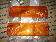 Toyota Pickup 4Runner Front Turn Signal Lamp Lens Set Left and Right 1984-1988