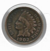 Rare Very Old Antique US 1902 Indian Head Penny USA Collection Coin Cent LOT:V48