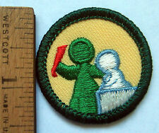 Girl Scout Junior ART IN THE ROUND BADGE Sculpture TRANSITION/ERROR Patch