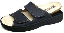 DAVEMA CIABATTE, pantofole uomo art.1708 BLU plantare estraibile slippers
