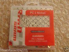 """SRAM PC1 nickel bmx ou fixie single speed track bike chain 1/8"""" nickel"""