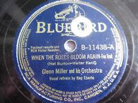 """Glenn Miller Roses Bloom Again Always in My Heart Bluebird 78rpm 10"""" 198-5EI"""