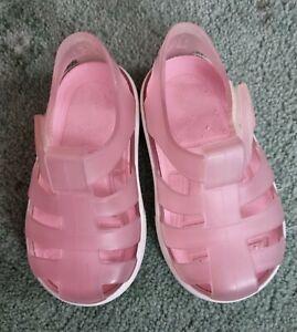 Girls Igor Pink Jelly Sandals Size 3/19