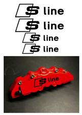 4x Audi S-Line Bremssattel Aufkleber schwarz / hitzebeständig!