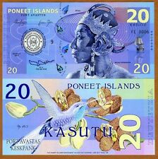 Poneet Islands (Mujand) 20 Kasutu 2015 UNC POLYMER Limited Issue Fantasy Note