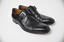 Massimo Emporio Italy Black Leather Monk Strap Dress Shoes 10600 Men's size 10.5