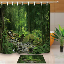 Tropical Rainforest Jungle Shower Curtain Bathroom Decor & 12hooks 71*71inches
