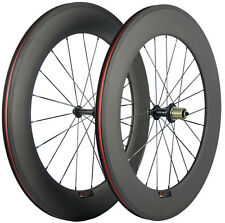 700C 88mm Clincher Carbon Fiber Wheels Bike Wheels Front & Rear Road Wheelset