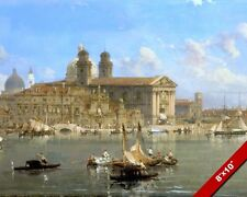 GORGEOUS SCENE OF VENICE ITALY CANALS ITALIAN PAINTING ART REAL CANVAS PRINT