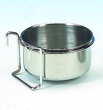 Hundenapf 900 ml zum Einhängen mit Halterung Edelstahl Wassernapf Napf für Hund