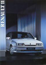 Renault 11 Prospekt 1986 D brochure brosjyre prospectus catalogue Katalog Auto