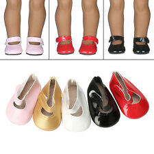Colorful Bright leather shoes Fits 18 inch Dolls As Gifts For Kids